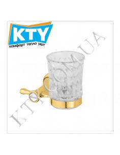 Стакан для зубных щеток Kugu Bavaria 306G (навесной, стекло, золото)
