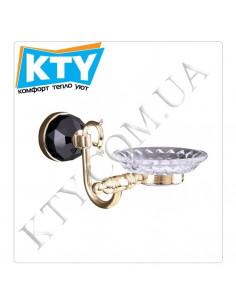Мыльница Kugu Diamond 1107G (латунь, стекло, золото)