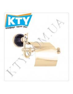 Держатель для туалетной бумаги Kugu Diamond 1111G (с крышкой, латунь, золото)
