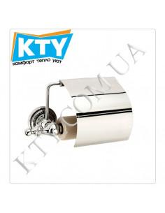 Держатель для туалетной бумаги Kugu Eldorado 811C (с крышкой, латунь, хром)