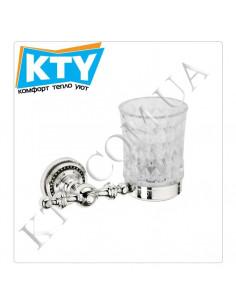 Стакан для зубных щеток Kugu Eldorado 806C (навесной, стекло, хром)