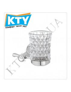 Стакан для зубных щеток Kugu Bavaria 306C (навесной, стекло, хром)