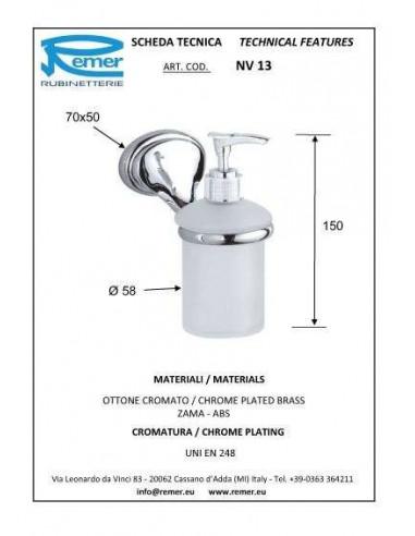 Дозатор для жидкого мыла Remer 900 NV13