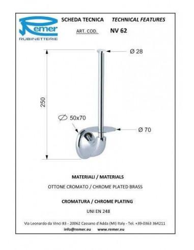 Держатель для туалетной бумаги Remer 900 NV62 (вертикальный)
