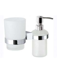 Дозатор для жидкого мыла со стаканом Remer Square SQ18