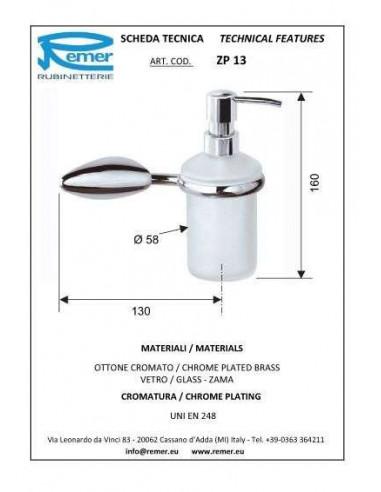 Дозатор для жидкого мыла Remer Zip ZP13