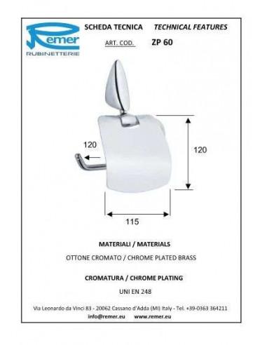 Держатель для туалетной бумаги Remer Zip ZP60 (с крышкой)