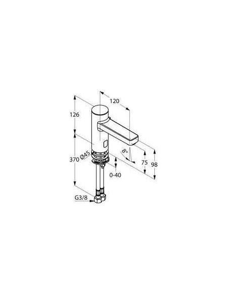 Смеситель сенсорный для умывальника Kludi Zenta 3820005 (со смешиванием, 230 V)