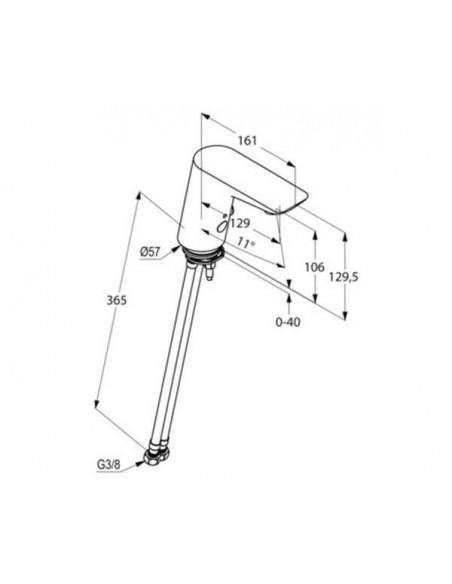 Смеситель сенсорный для умывальника Kludi Balance 5210091 (алкалиновая батарейка 6 V, белый)