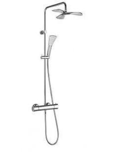 Душевая стойка Kludi Dual Shower System 6709605-00 (с термостатом, с душевой лейкой Kludi Fizz)