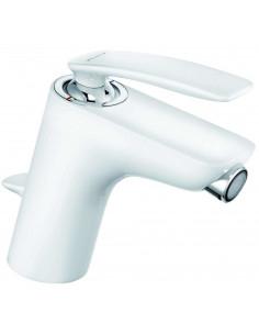 Смеситель для биде Kludi Balance 522169175 (однорычажный, с донным клапаном, белый/хром)