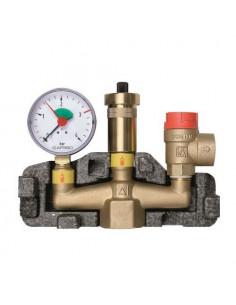 Группа безопасности котла Afriso KSG 50 кВт 2,5 бар в изоляции
