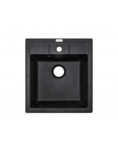 Мойка квадратная Adamant Brick (врезная, черный)