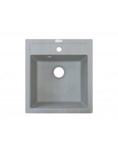 Мойка квадратная Adamant Brick (врезная, светло-серый)