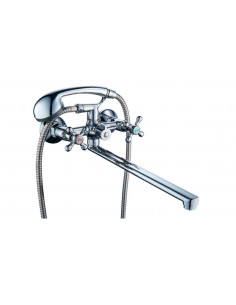 Смеситель для ванны Tau VD-2C261C (400 мм, дивертор встроенный картриджный)
