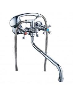Смеситель для ванны Tau VN-5C460C (гусак изогнутый, дивертор встроенный шаровый)