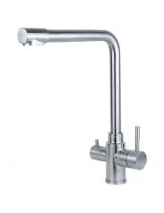 Смеситель для кухни Aquatica KT-4B770P (35 мм, гайка, нержавейка, под фильтр)