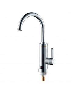 Смеситель для кухни с проточным водонагревателем Aquatica HZ-6B143C (3.0 кВт, 0,4-5бар, гайка)