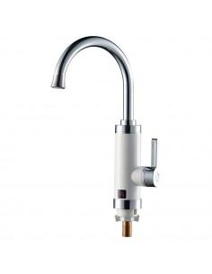 Смеситель для кухни с проточным водонагревателем Aquatica HZ-6B143W (3.0 кВт, 0,4-5бар, гайка)