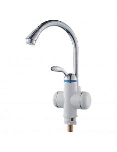 Смеситель для кухни с проточным водонагревателем Aquatica LZ-6B111W (3.0 кВт, 0,4-5бар, гайка)