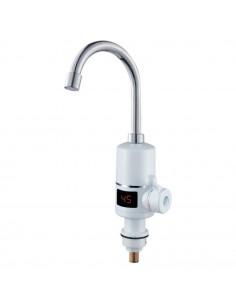 Смеситель для кухни с проточным водонагревателем Aquatica NZ-6B142W (3.0 кВт, 0,4-5бар, гайка, с дисплеем)