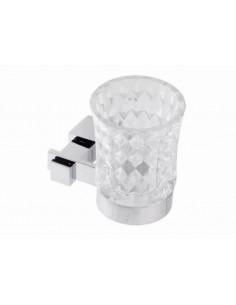Стакан для зубных щеток Kugu С5 506 (навесной, стекло, хром)