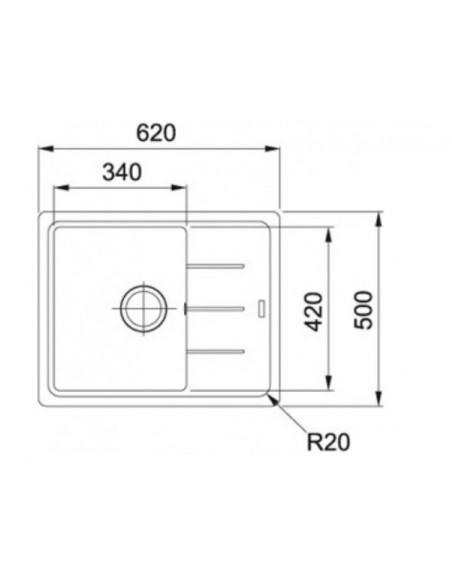 Мойка прямоугольная Franke Basis BFG 611-62 (620x500x200)