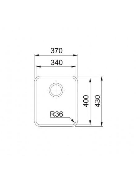 Мойка прямоугольная Franke Aton ANX 110-34 (340x400x190)