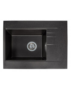 Мойка квадратная гранитная Miraggio Bodrum 650 Black