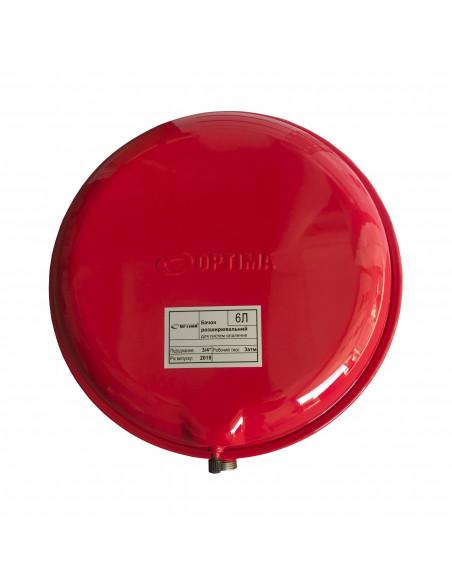 Расширительный бачок Cristal 6 литров для систем отопления (плоский)
