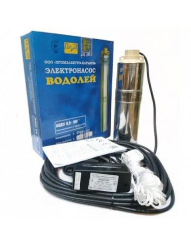 Скважинный насос Водолей БЦПЭ-0.5-63У, 3 дюйма, 63 м кабель