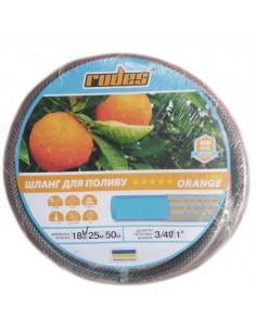 Шланг для полива Rudes 5 Orange Lines, 1 дюйм, 18 м, армированный