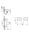 Смеситель для душа Corso Como BF-1D129C, диаметр картриджа 35мм, латунь - 4