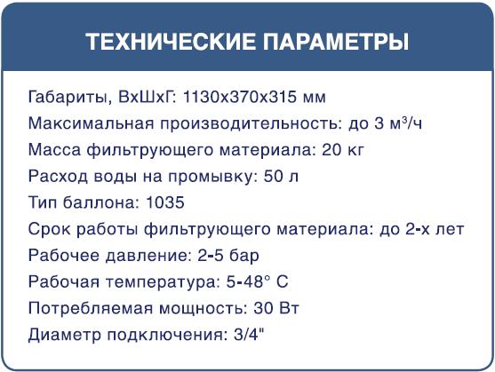 Технические параметры угольного фильтра Bio+ Sydtems CF-B2