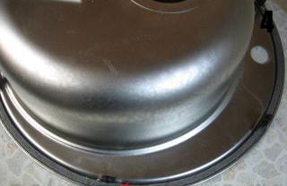 Мойка для кухни круглая CRISTAL ROMA (врезная 510x180, Satin) - простота, качество. Способ установки.